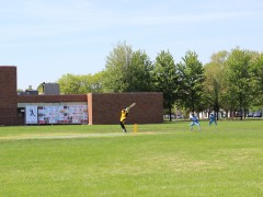 Cricket ground and CPD building