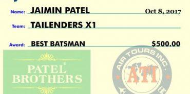 jaimin best bowler